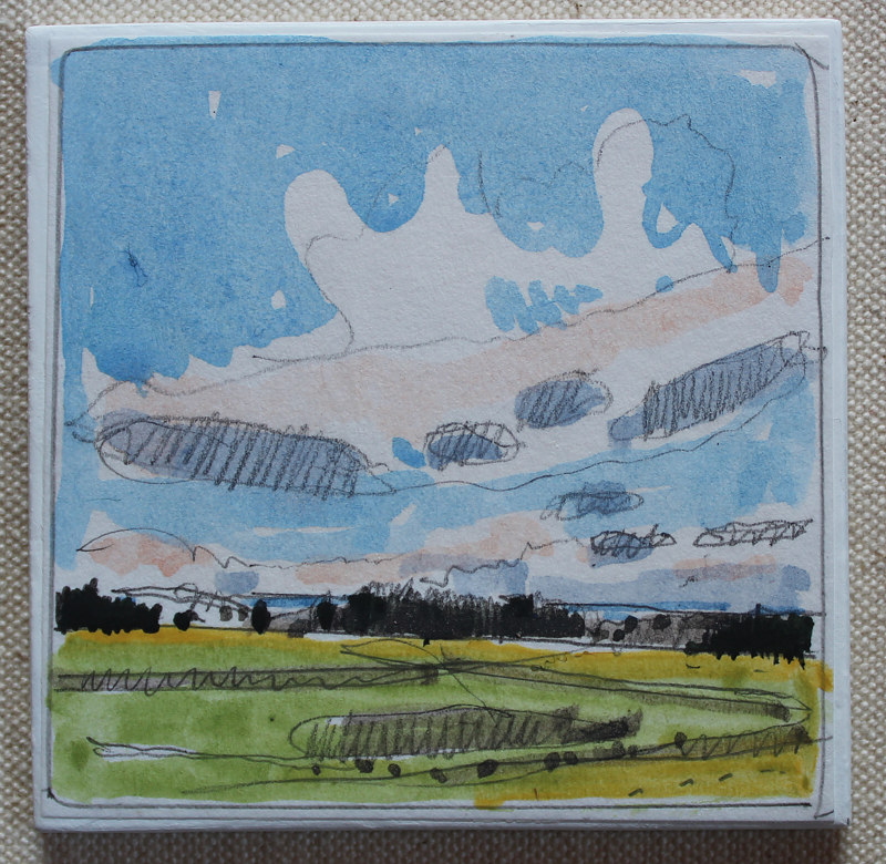 Painting Winter Wheat, April 4 by Harry Stooshinoff