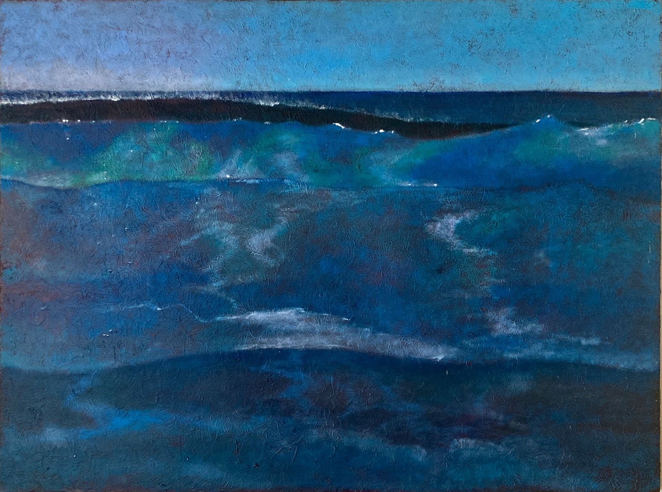 Oil painting North Shore Maui by Pamela Neswald