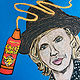 Mixed-media artwork Go Crazy with the Cheez Whiz! by Kelly Schafer