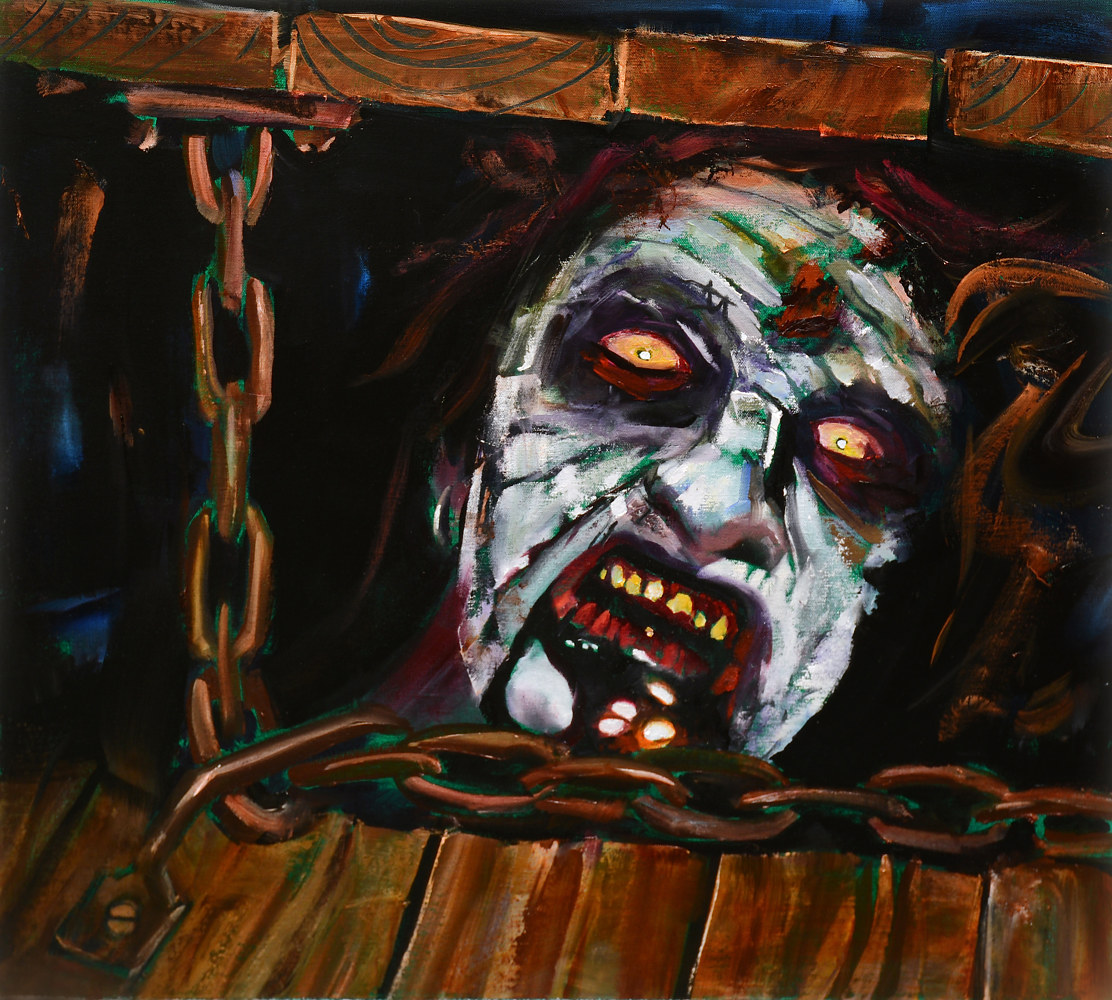Oil painting Evil Dead by Angelo Mariano