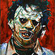 Oil painting Leatherface by Angelo Mariano