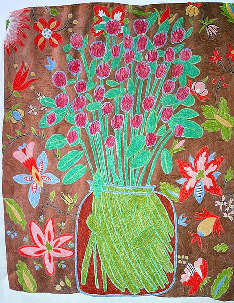 Drawing Floral Arrangement by Patricia Autenrieth