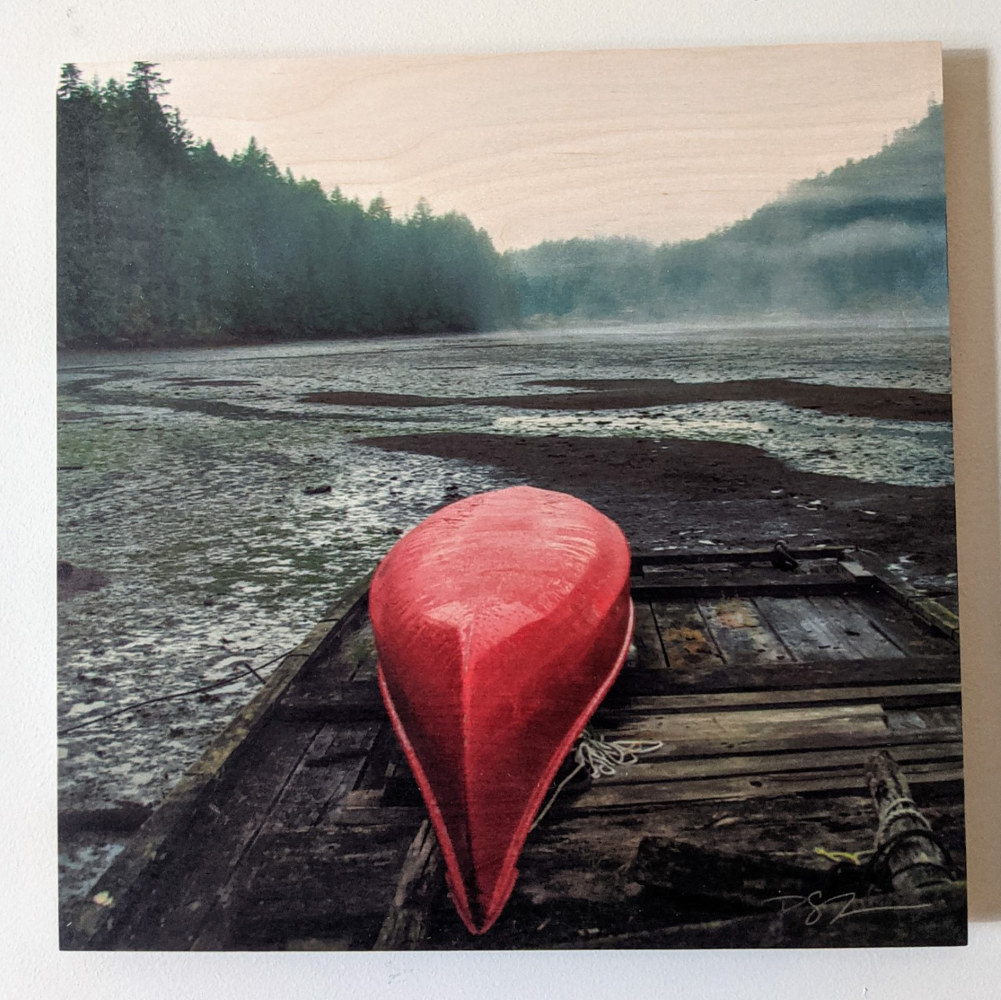 Red Canoe by Vicki Allesia