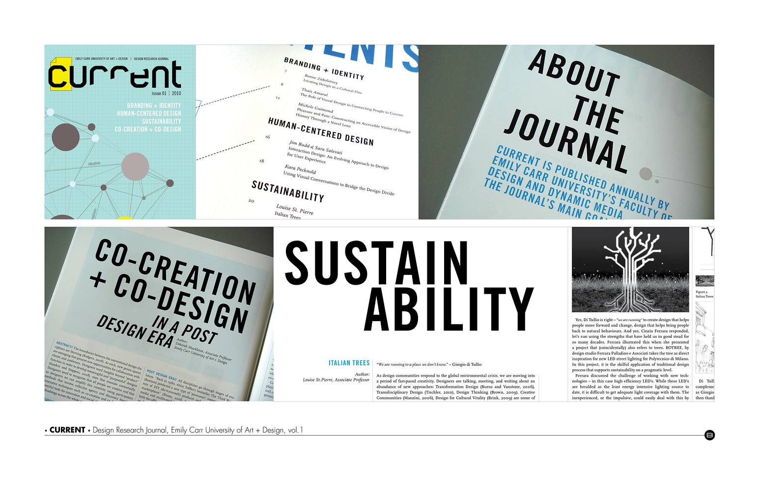 Photography Art Direction, Print + Web Coordinator | CURRENT, Design Research Journal, ECU, vol.1 by Brooke Allen