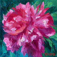 Oil painting Hot Pink  by Passionate Painters