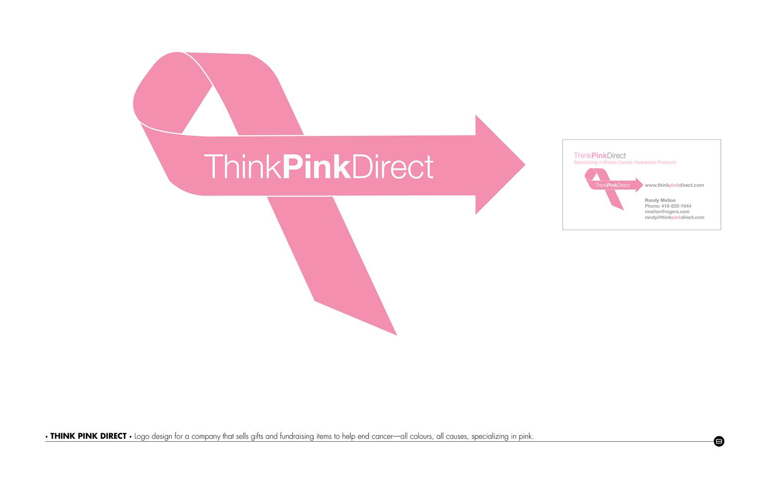 Drawing Logo Design | Think Pink Direct by Brooke Allen