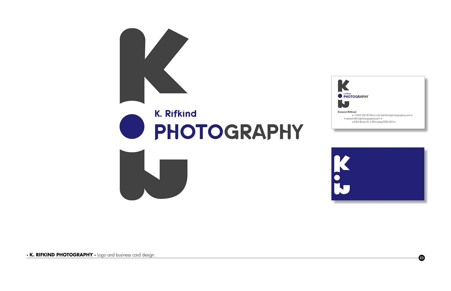 Logo Design | K. Rifkind Photography by Brooke Allen