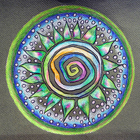 Drawing Spiral Path by Kathleen Horne