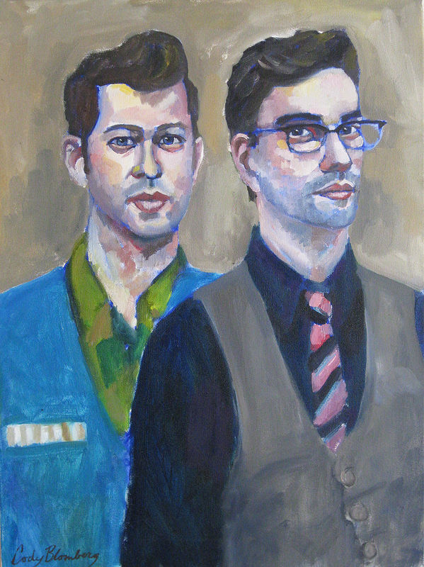 Oil painting Mike and Jeremy by Cody Blomberg