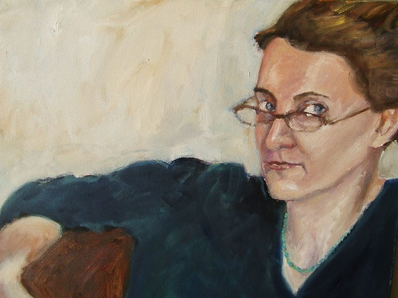 Oil painting Rebecca by Cody Blomberg