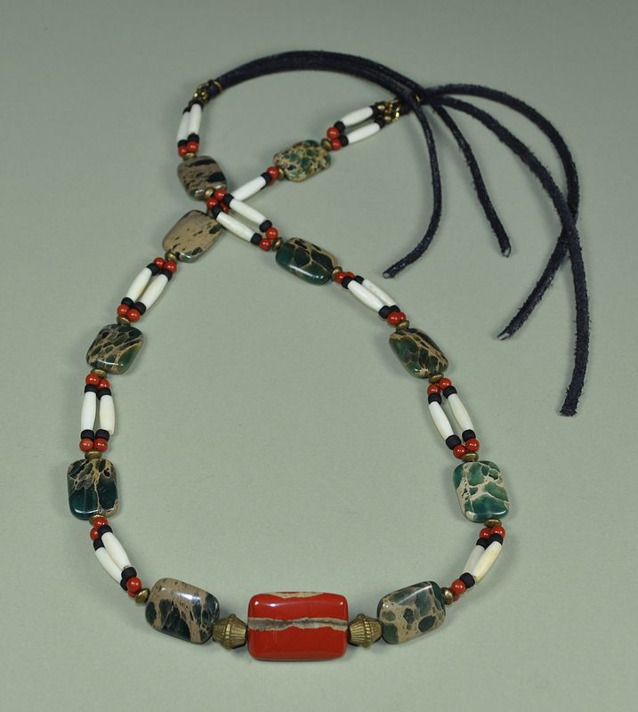 Patriot Warrior hatband/necklace by Sue Ellen Brown