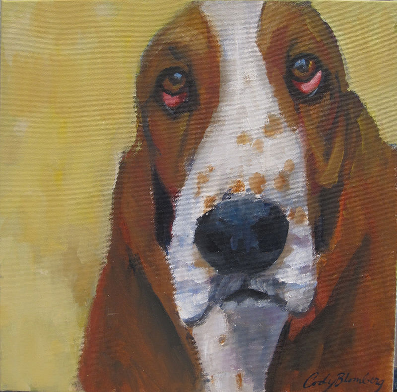 Oil painting Sharon's Doggie by Cody Blomberg