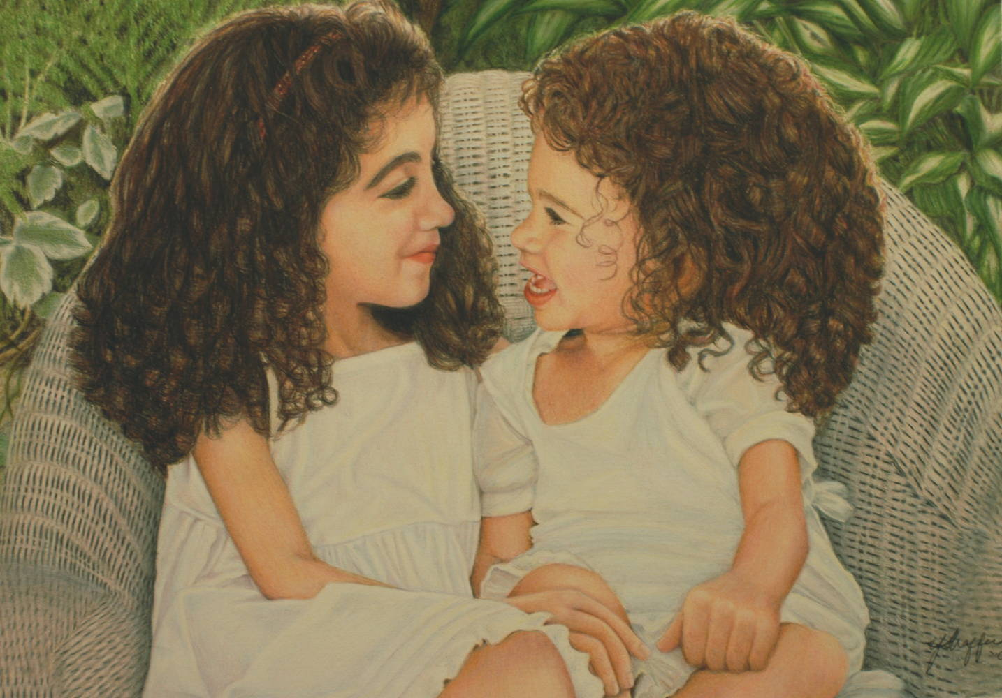 Drawing Bea & Lucy by Yvonne Shaffer
