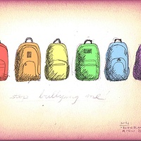 Photography Rainbow Backpacks Drawing by Cody Blomberg