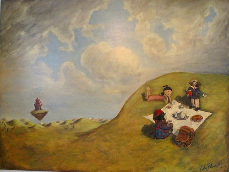 Oil painting Picnic with friends by Cody Blomberg