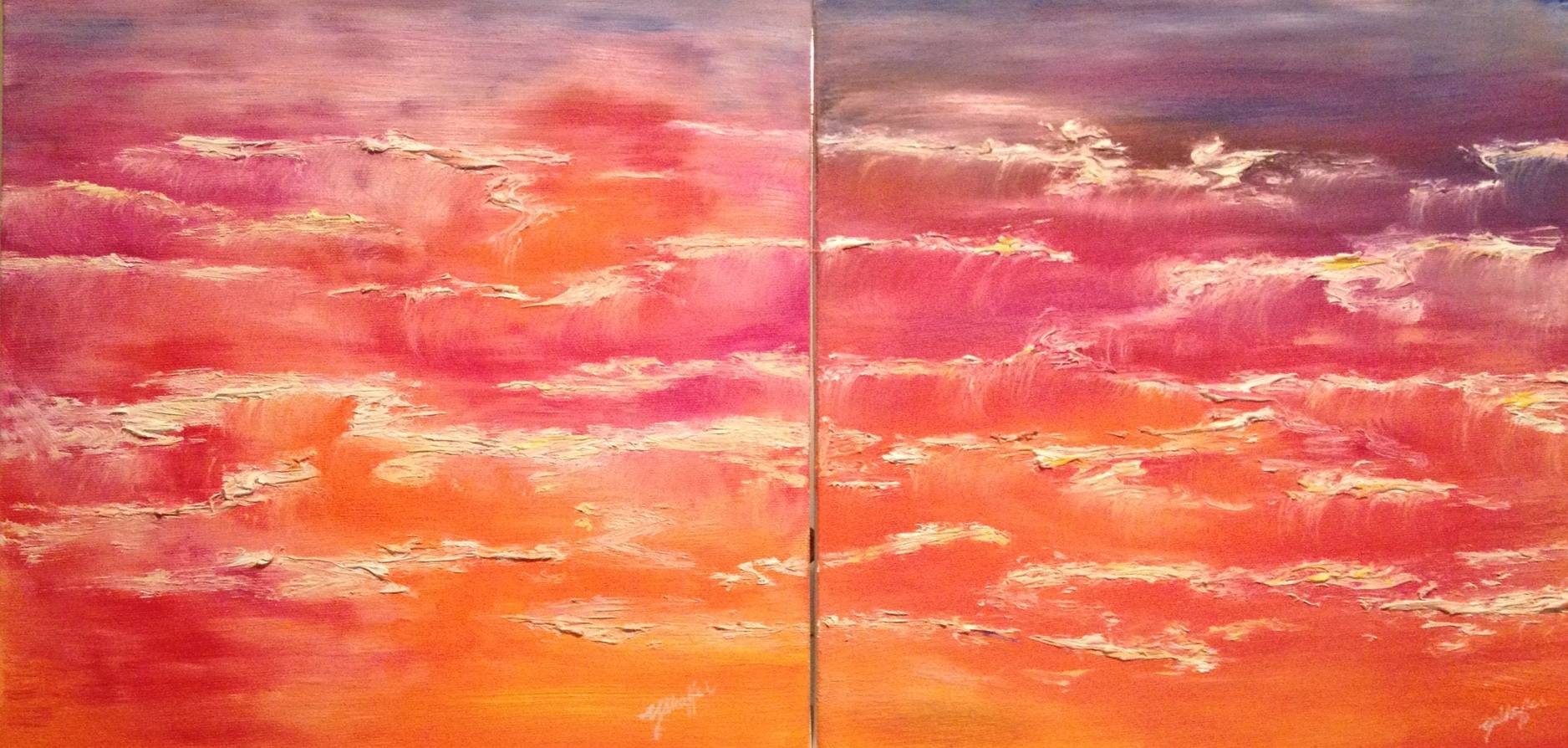 Oil painting Sunset Glory by Yvonne Shaffer