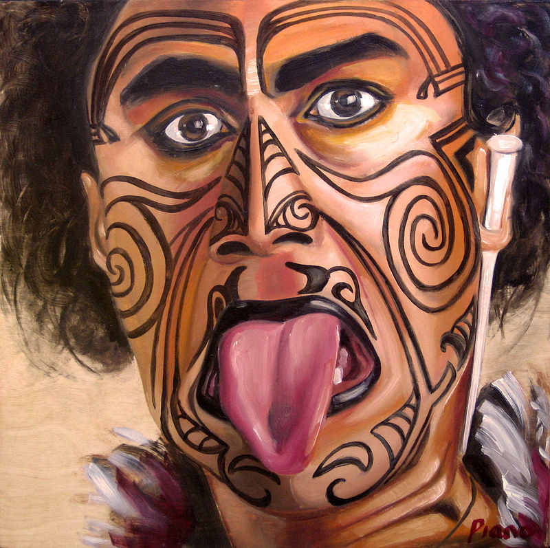 Oil painting Maori by Grace ann  Piano