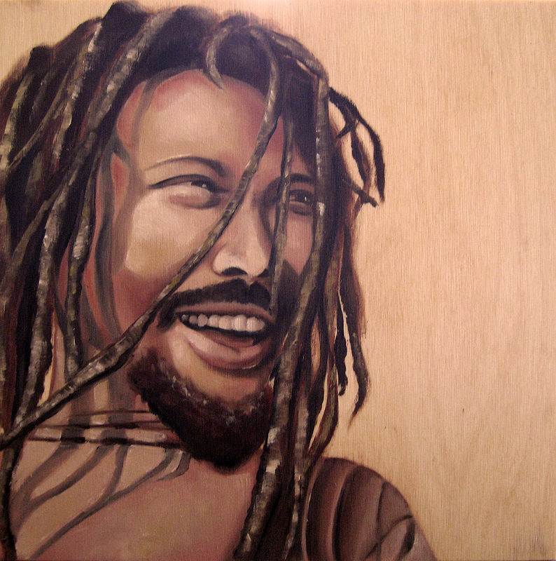 Oil painting Rasta by Grace ann  Piano