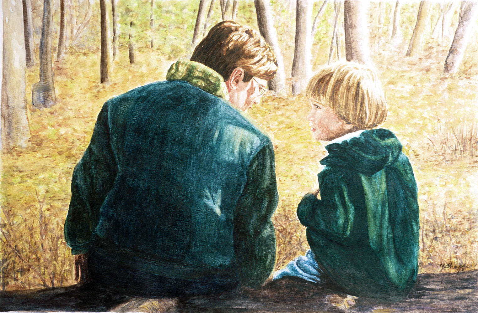 Watercolor Brothers by Yvonne Shaffer