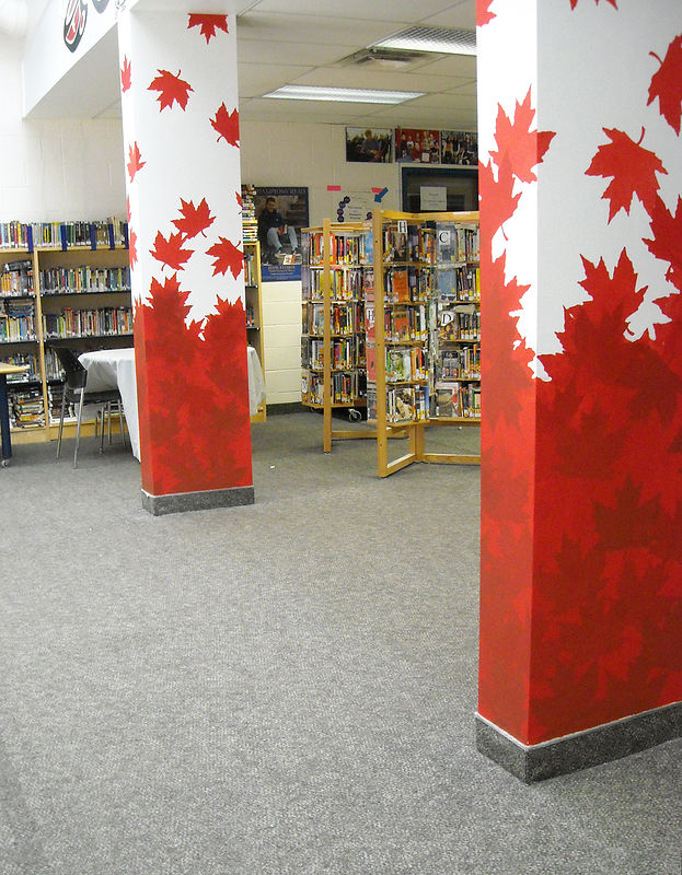 Painting CROSBY HEIGHTS P.S. PILLARS - LIBRARY by Cindy Scaife