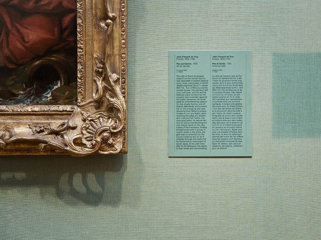 Photography Pan and Syrinx (detail) by Jean François de Troy; Room C208  by Mike Steinhauer