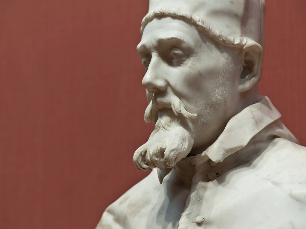 Photography Pope Urban VIII (detail) by Gian Lorenzo Bernini; Room C204 by Mike Steinhauer