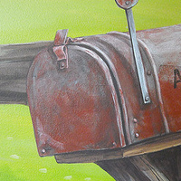 HORSE MURAL - MAIL BOX DETAIL by Cindy Scaife