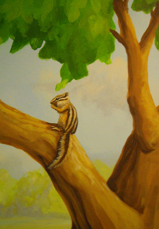 HORSE MURAL - CHIPMUNK by Cindy Scaife