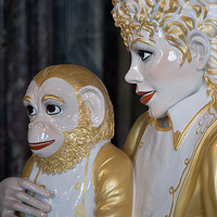 Photography Michael Jackson and Bubbles (detail), Salon de Venus by Mike Steinhauer
