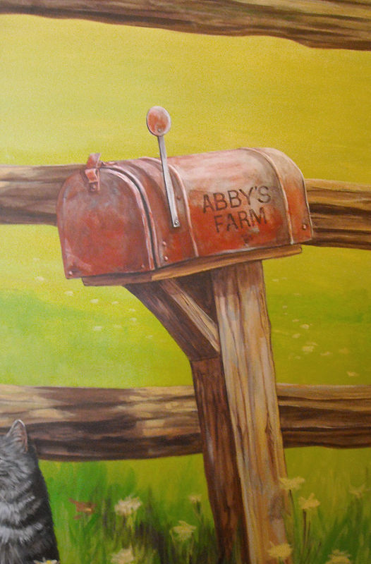 HORSE MURAL - MAILBOX by Cindy Scaife