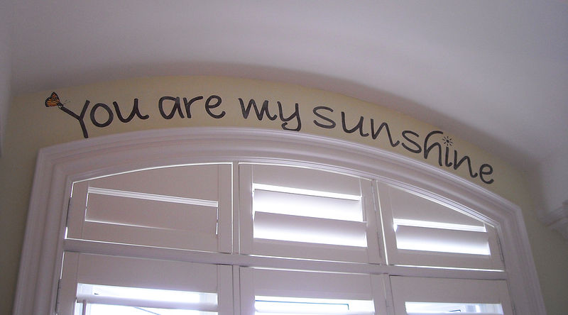 HORSE MURAL - YOU ARE MY SUNSHINE by Cindy Scaife