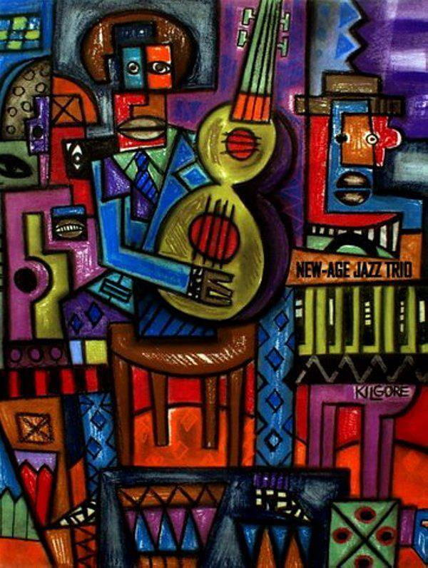 Drawing NEW-AGE JAZZ TRIO by Michael Kilgore