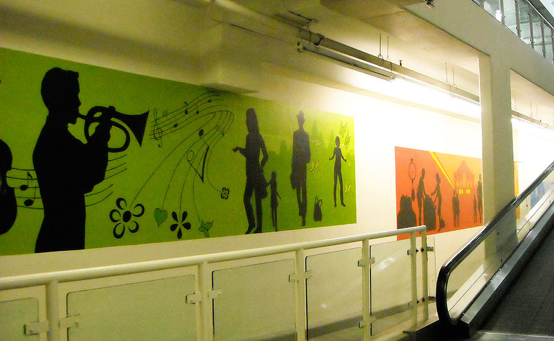 Painting LOBLAWS - OTTAWA MURALS - HALLWAY by Cindy Scaife
