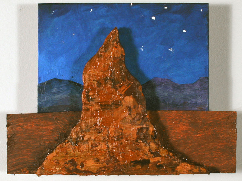 Oil painting Butte # 2 by Gary Eleinko