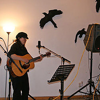 Kim Beggs plays at studio open house  by Belinda Harrow
