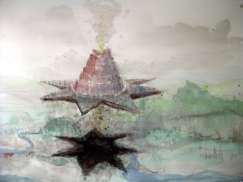 2057 (1726), watercolors, 2007 by Stéphane Gilot