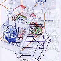 Le pavillon, collage, 2003 by Stéphane Gilot