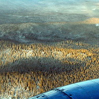 flying into Dawson by Belinda Harrow