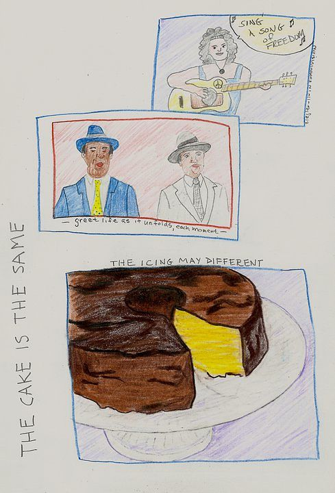the cake is the same  by anthony Ziegler
