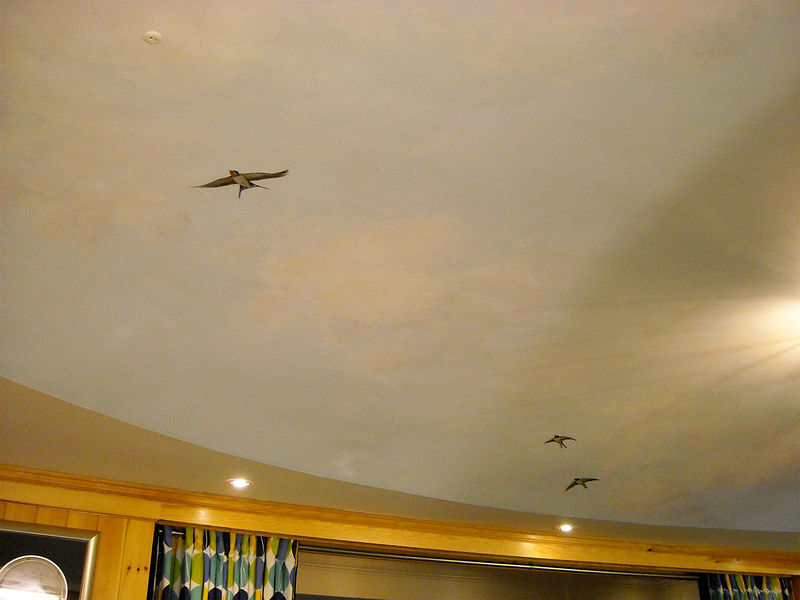 SKY MURAL - BIRDS AND CLOUDS by Cindy Scaife