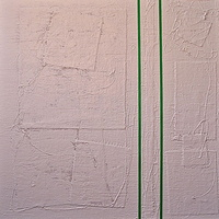 "Acrylic painting #2. Radiant Green: 36""x 36"" by John Turner"