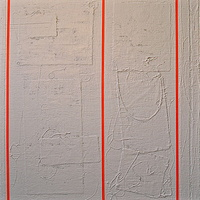 "Acrylic painting #3. Radiant Orange: 36""x 36"" by John Turner"