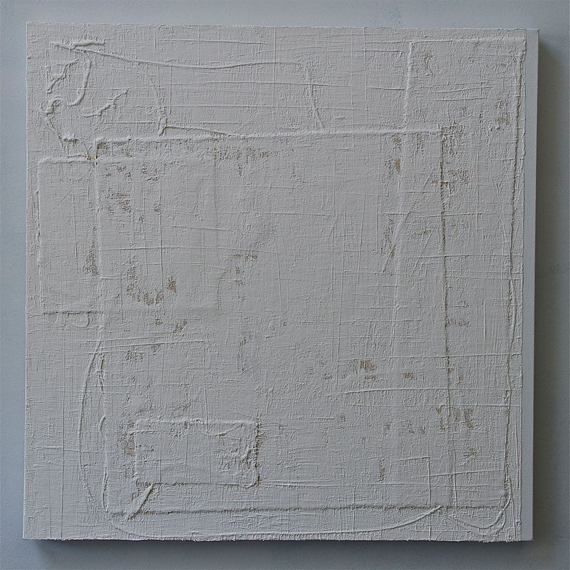 "Acrylic painting WHITE: 2009. 30"" x 30"" by John Turner"