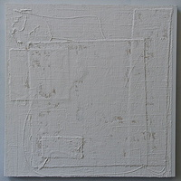 "Acrylic painting WHITE: 2009. 30"" x 30"" by Suzanne Turner"