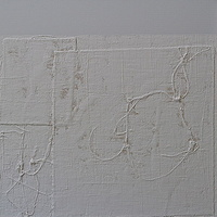 "Acrylic painting WHITE: 2010. 30"" x 30"" by Suzanne Turner"