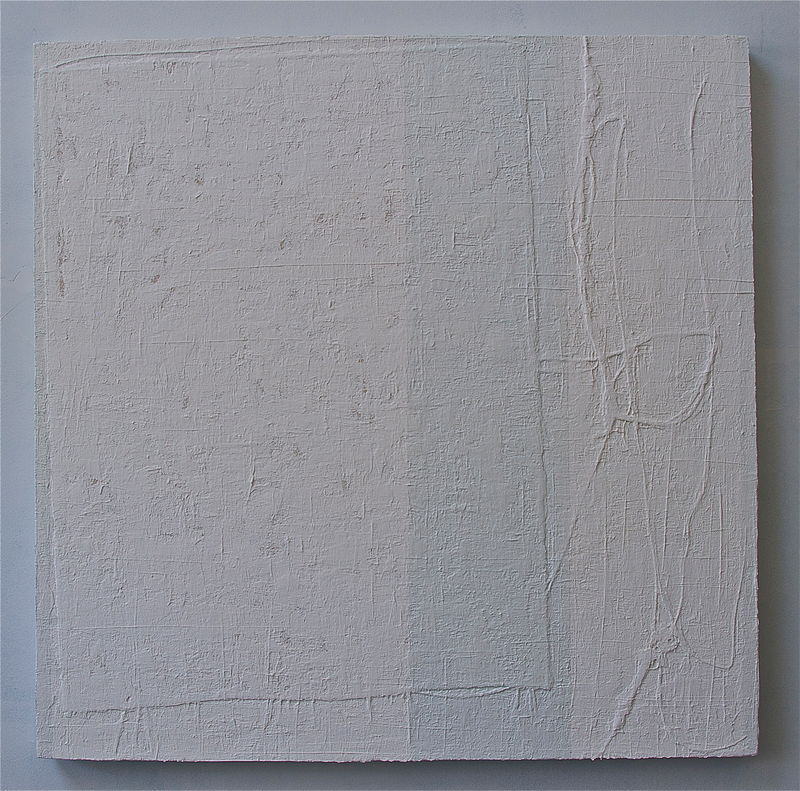 "Acrylic painting WHITE: 2009. 36"" x 36"" by Suzanne Turner"
