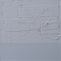 "Acrylic painting WHITE: 2009. 20"" x 20"" by Suzanne Turner"