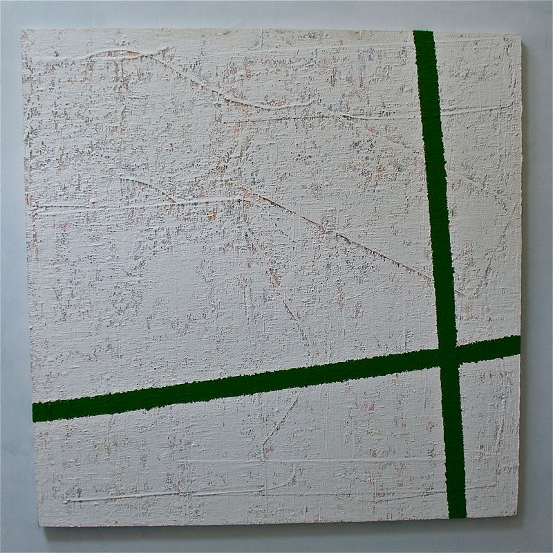 "Oil painting GREEN: 2004. 64"" x 64"" by John Turner"