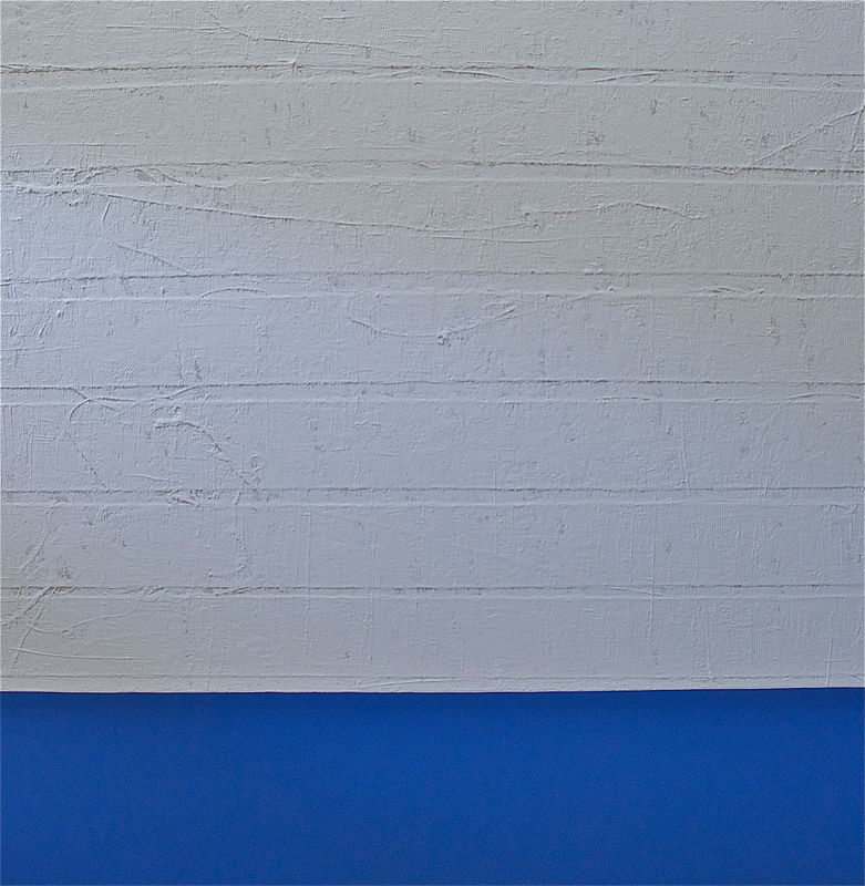 "Acrylic painting BLUE: 2007. 70"" x 70"" by Suzanne Turner"