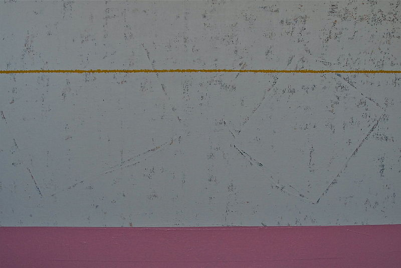 "Oil painting Naples Yellow, PINK: 2006. 56"" x 84"" by Suzanne Turner"